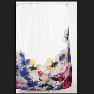 ❤SOLD❤URBAN OUTFITTERS LINEN FLORAL SHOWER CURTAIN
